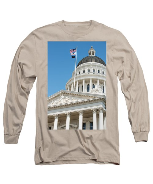 California State Capitol In Sacramento Long Sleeve T-Shirt