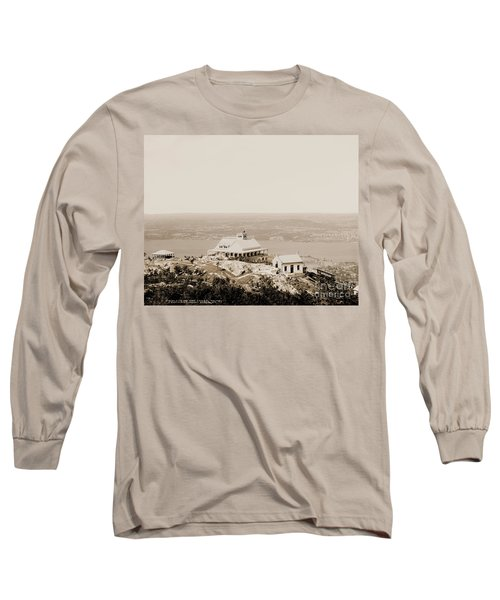 Casino At The Top Of Mt Beacon In Sepia Tone Long Sleeve T-Shirt
