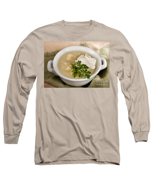Cauliflower Soup Long Sleeve T-Shirt by Iris Richardson