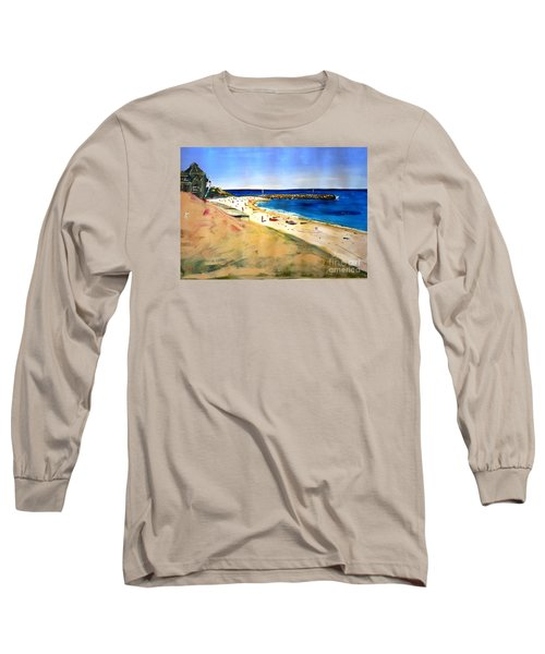 Long Sleeve T-Shirt featuring the painting Cottesloe Beach by Therese Alcorn