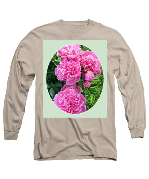 Country Peonies Long Sleeve T-Shirt