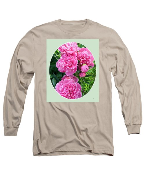 Country Peonies Long Sleeve T-Shirt by Will Borden