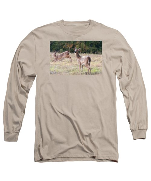 Long Sleeve T-Shirt featuring the photograph Deer At Paynes Prairie by Paul Rebmann