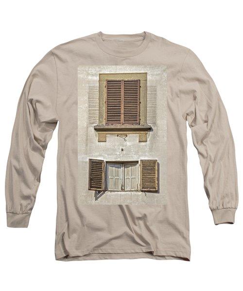 Dueling Windows Of Tuscany Long Sleeve T-Shirt