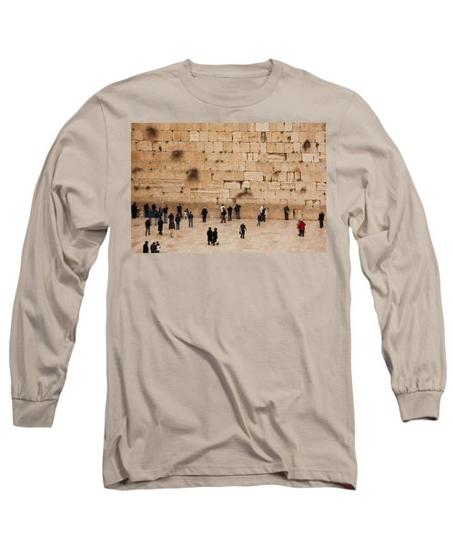 Elevated View Of The Western Wall Plaza Long Sleeve T-Shirt