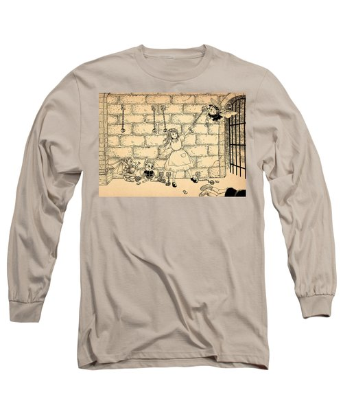 Long Sleeve T-Shirt featuring the drawing Escape by Reynold Jay