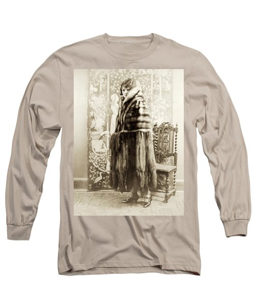 Fashion Fur, 1925 Long Sleeve T-Shirt by Granger