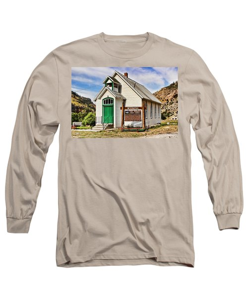 First Washakie County Church Long Sleeve T-Shirt by Cathy Anderson