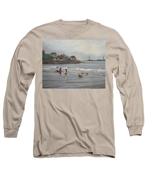 Fog Rolling In On Good Harbor Beach Long Sleeve T-Shirt by Eileen Patten Oliver
