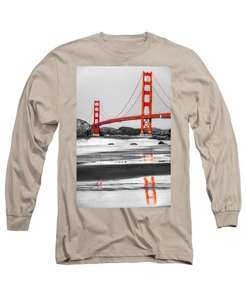 Golden Gate - San Francisco - California - Usa Long Sleeve T-Shirt by Luciano Mortula