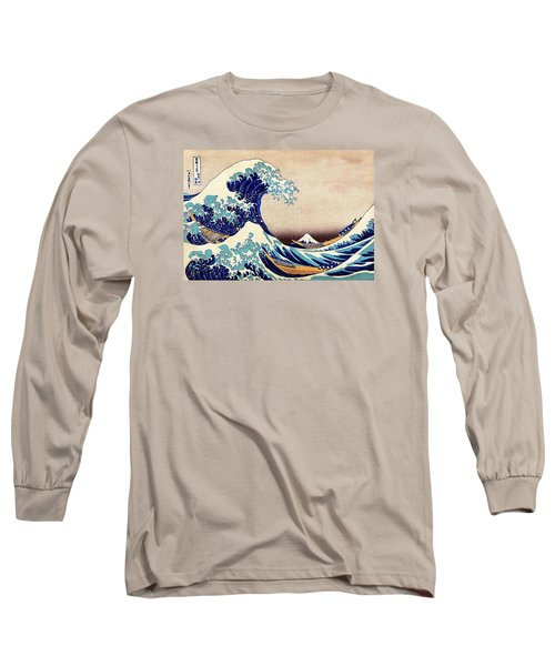 Great Wave Off Kanagawa Long Sleeve T-Shirt