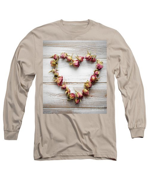 Heart From Dry Rose Buds Long Sleeve T-Shirt