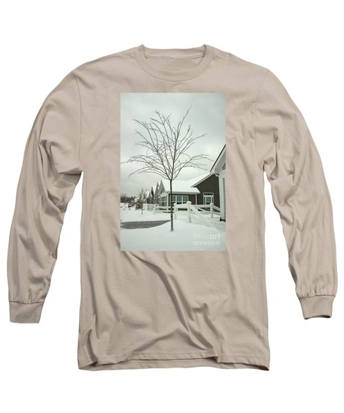 Hello Snow Long Sleeve T-Shirt by Roberta Byram