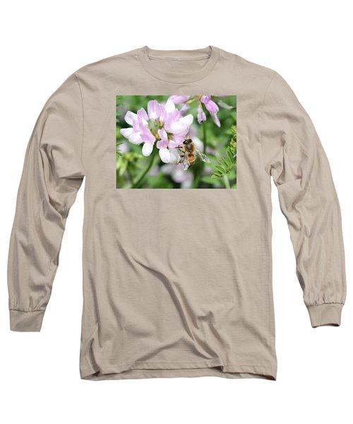 Honeybee On Crown Vetch Long Sleeve T-Shirt
