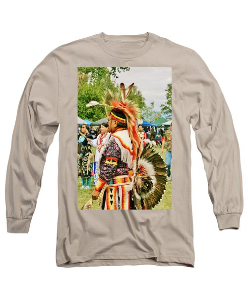 Long Sleeve T-Shirt featuring the photograph Indian Finery by Marilyn Diaz
