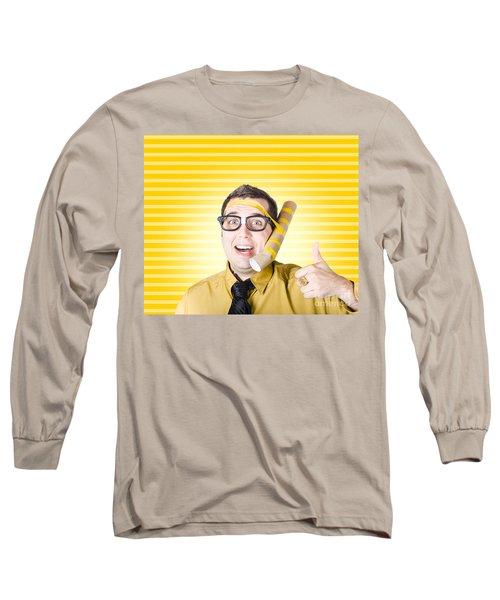Inventive Man With Innovative Handmade Phone Long Sleeve T-Shirt