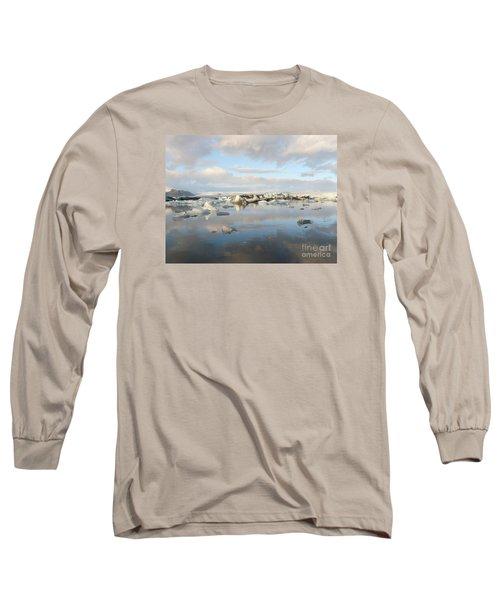 Jokulsarlon Glacier Lagoon Long Sleeve T-Shirt by IPics Photography
