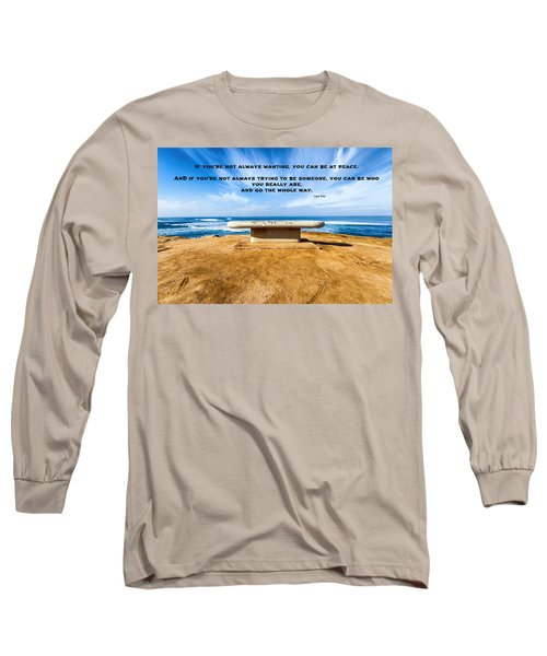 Lao Tzu Quote Long Sleeve T-Shirt