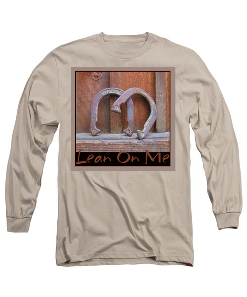 Long Sleeve T-Shirt featuring the photograph Lean On Me by Brooks Garten Hauschild