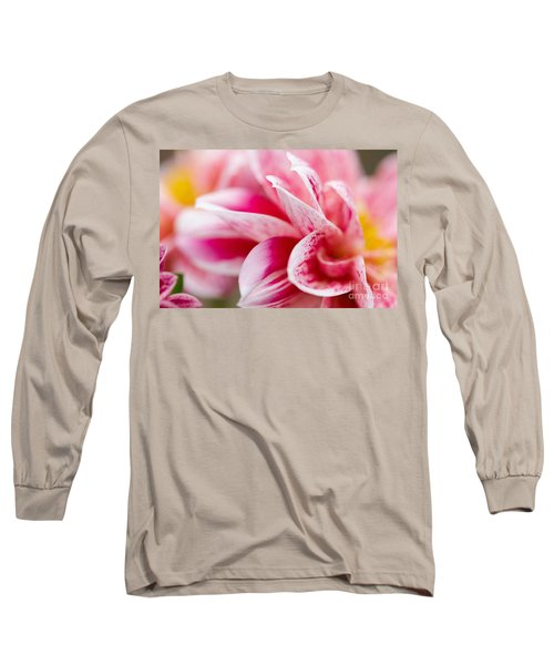 Macro Image Of A Pink Flower Long Sleeve T-Shirt