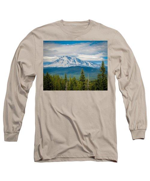 Mt. Adams From Indian Heaven Wilderness Long Sleeve T-Shirt