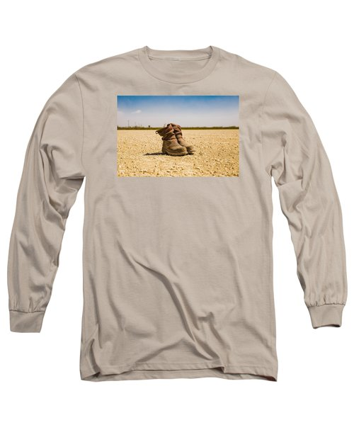 Muddy Work Boots Long Sleeve T-Shirt