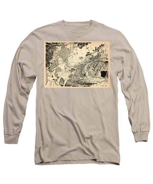 Long Sleeve T-Shirt featuring the drawing Open Sesame by Reynold Jay