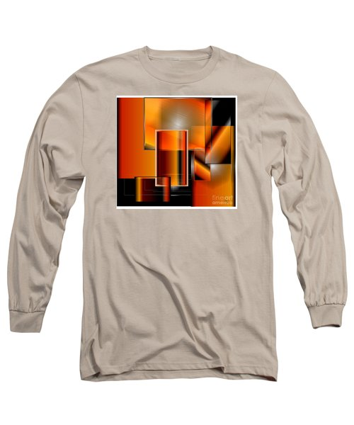 Orange Long Sleeve T-Shirt by Iris Gelbart