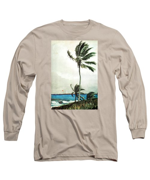 Palm Tree Nassau Long Sleeve T-Shirt by Celestial Images