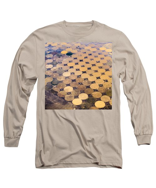 Patchworks. Aerial View To Texas's Fields Long Sleeve T-Shirt
