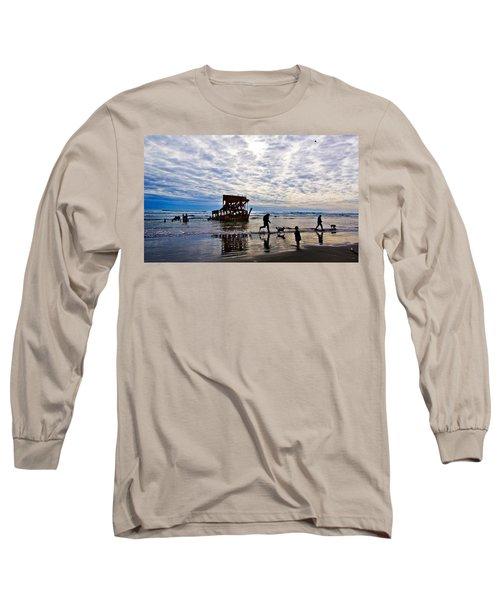 Peter Iredale Shipwreck, Fort Stevens Long Sleeve T-Shirt