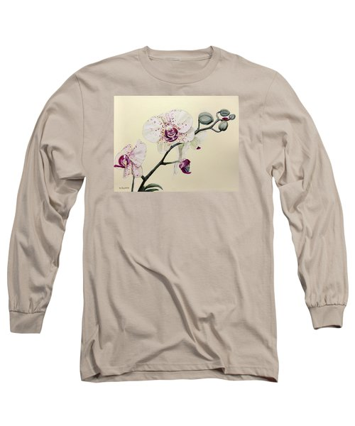 Phalaenopsis Black Panther Orchid Long Sleeve T-Shirt