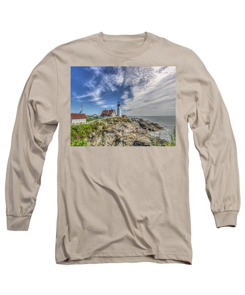 Long Sleeve T-Shirt featuring the photograph Portland Headlight by Jane Luxton