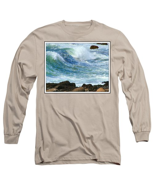 Long Sleeve T-Shirt featuring the photograph Rough Seas by Mariarosa Rockefeller
