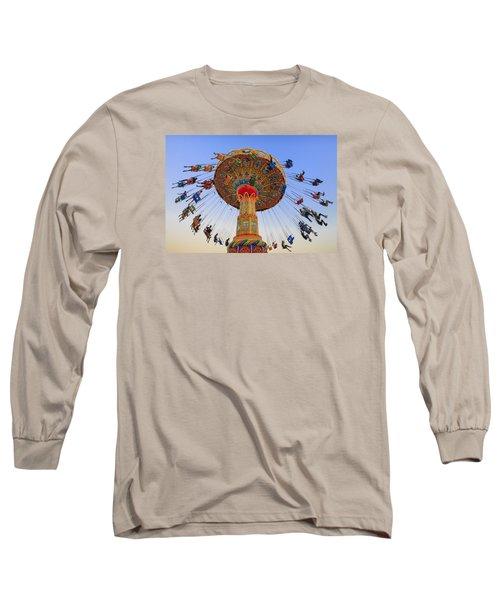 Santa Cruz Seaswing At Sunset 7 Long Sleeve T-Shirt