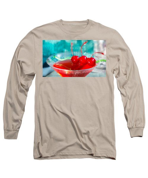 Shirley Temple Drink Long Sleeve T-Shirt by Iris Richardson
