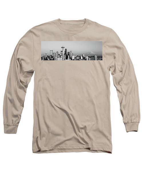 Skyline, Seattle, Washington State, Usa Long Sleeve T-Shirt by Panoramic Images