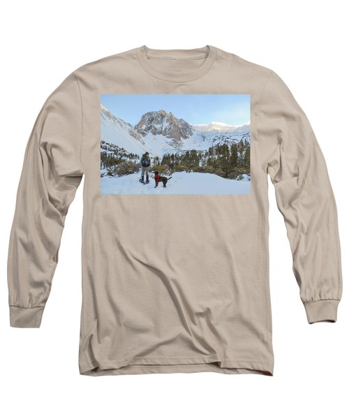 Snowshoeing To Temple Crag With Mans Long Sleeve T-Shirt
