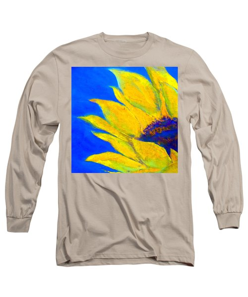 Sunflower In Blue Long Sleeve T-Shirt