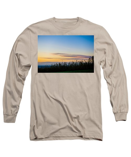 Sunset Over The Field Long Sleeve T-Shirt