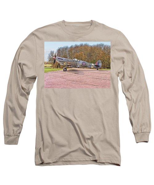 Supermarine Spitfire Hf Mk. Ixe Mj730 Long Sleeve T-Shirt