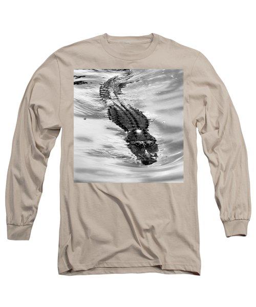 Swimming Gator Long Sleeve T-Shirt