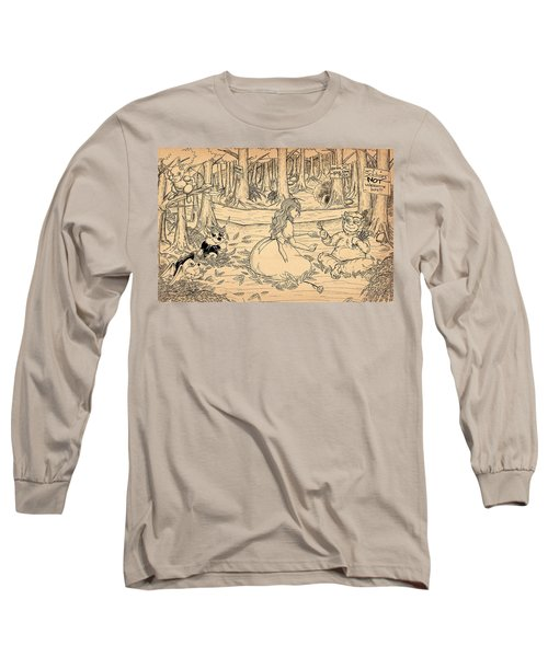 Long Sleeve T-Shirt featuring the drawing Tammy And The Baby Hoargg by Reynold Jay