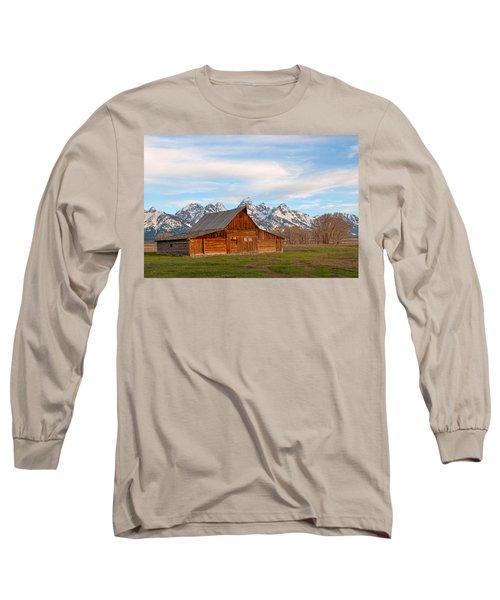 Teton Barn Long Sleeve T-Shirt by Steve Stuller