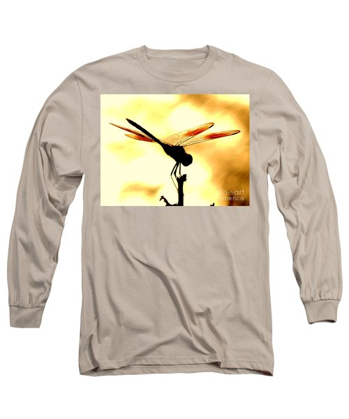 The Light Of Flight Upon The Mosquito Hawk At The Mississippi River In New Orleans Louisiana Long Sleeve T-Shirt by Michael Hoard