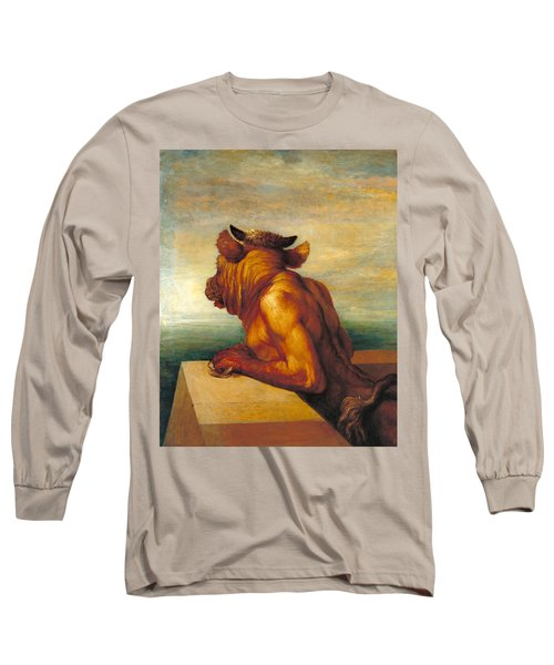 The Minotaur Long Sleeve T-Shirt by George Frederic Watts