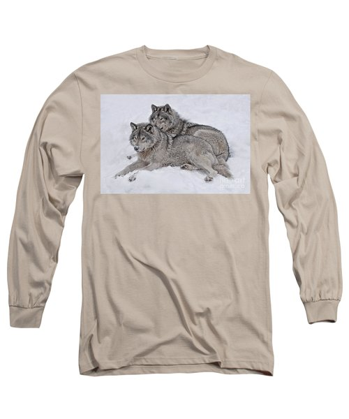 Timber Wolf Pair Long Sleeve T-Shirt