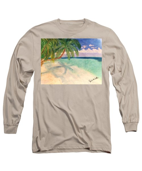 Tropical Shores Long Sleeve T-Shirt by Renee Michelle Wenker