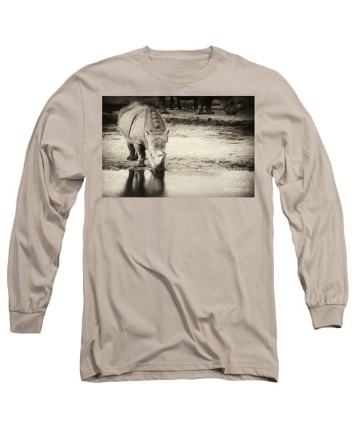 Two White Rhinos  Long Sleeve T-Shirt