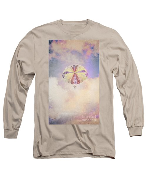 Vintage Parachute In Clouds Long Sleeve T-Shirt